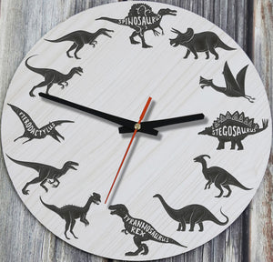 Dinosaur Wooden Wall Clocks