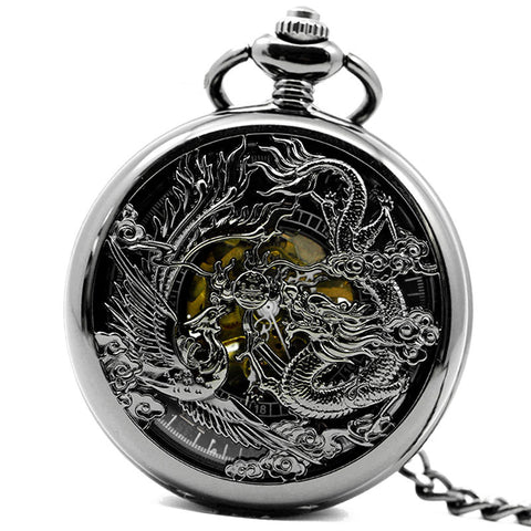 Vintage Chinses Dragon&Phoenix Pocket Watch - TR