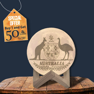 Australia Coat Of Arms Moon Lamp - Special Product