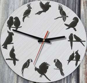 Parrot Wooden Wall Clocks