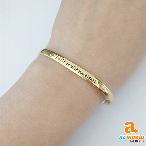 "Image of "" I will be with You, always  "" Bracelet"