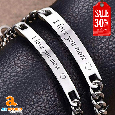 Image of Love You More and Most Couple Bracelet - M2