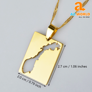 Gold Plated Norway Map Necklaces - TU