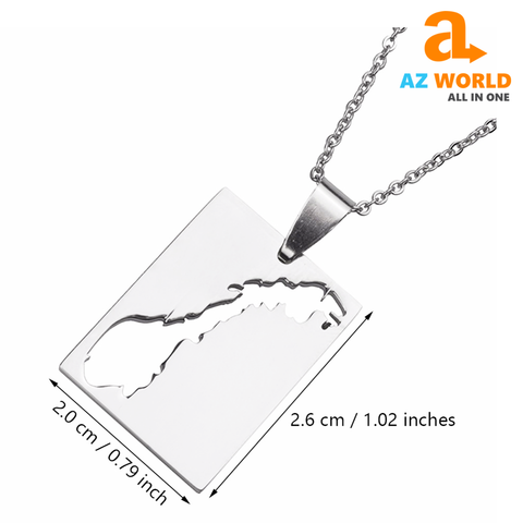Stainless Steel Norway Map Necklaces - TU