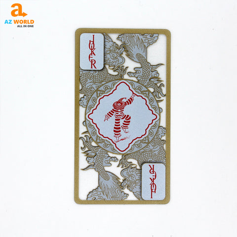 Gold Edge Dragon Playing Cards - K
