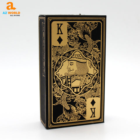 Gold Design PVC Playing Cards Waterproof - K