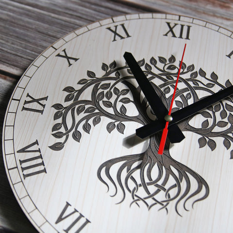 Celtic Tree Of Life Wooden Wall Clock