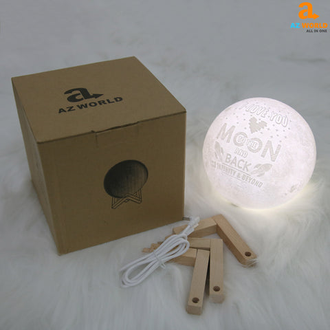 Image of I Love You To The Moon And Back Moonlight Night Lamp - Touch Mode