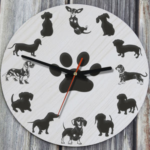 Dachshund Wooden Wall Clocks