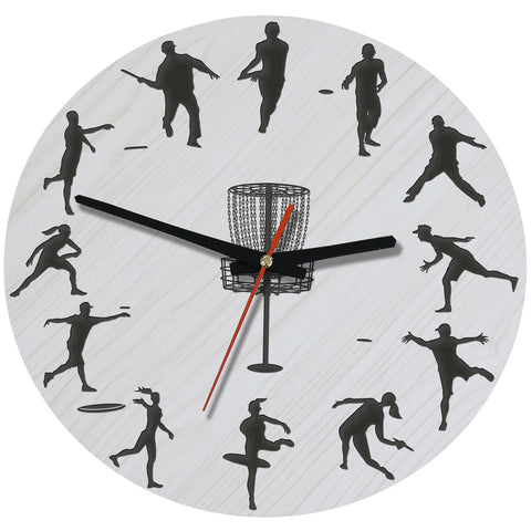 Discgolf Wooden Wall Clock