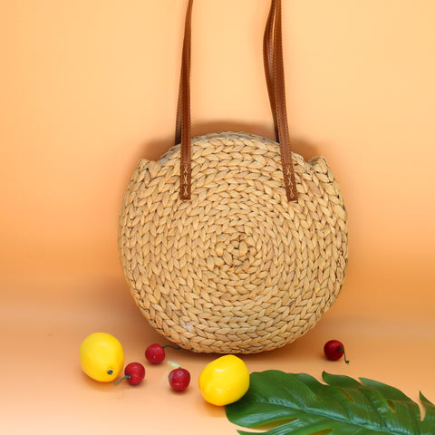 Image of AZ Exclusive Handmade Water Hyacinth Straw Shoulder Bag - LTL004