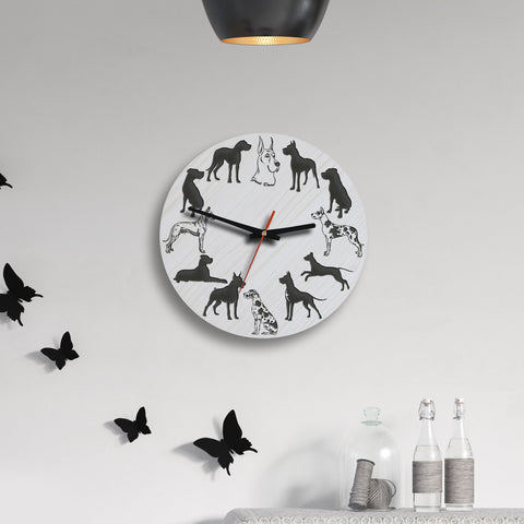 Great Dane Dog Wooden Wall Clock