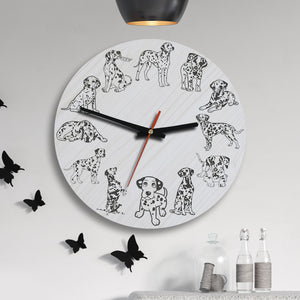 Dalmatian Dog Wooden Wall Clocks