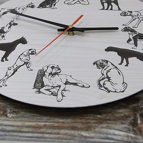 Image of Boxer Dog Wall Clocks