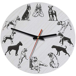 Boxer Dog Wall Clocks