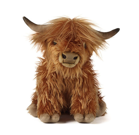 Image of Highland Cow Soft Toy With Sound - Y7