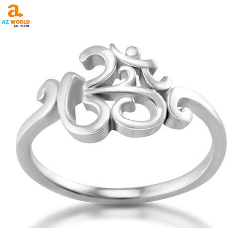 Image of YOGA, rings, ring, om mani padme hum, Om, AZ world store, 925 Sterling Silver, 925 Sterling Silver Om Ring