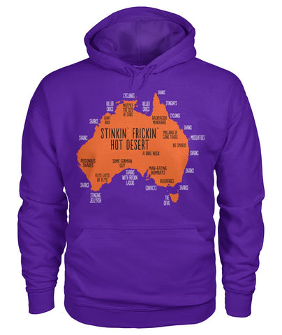 Image of Australia Funny Map T-Shirt
