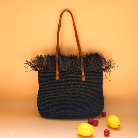 AZ Exclusive Handmade Seagrass Straw Shoulder Bag - LTL003
