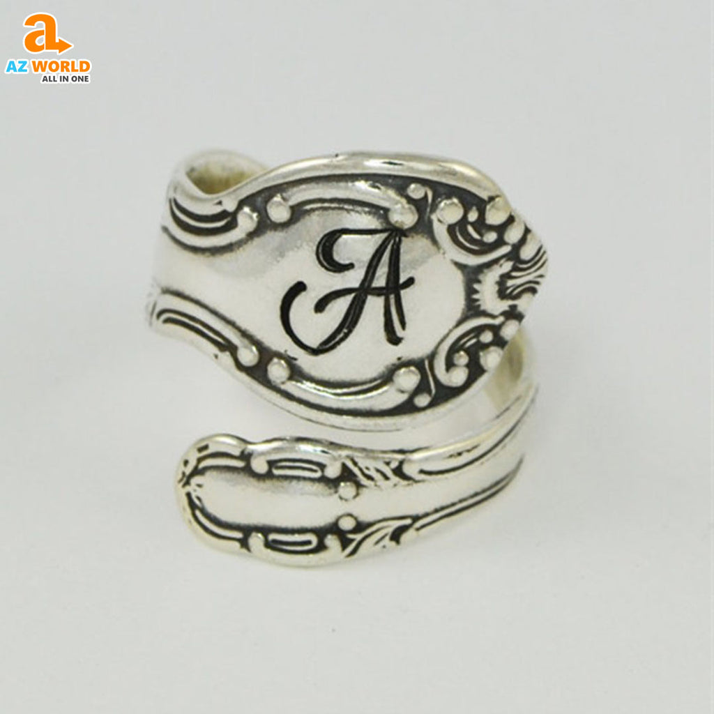spoon ring SCOTTISH SCOTLAND rings ring jewelry Az World Store Ancient Silver Spoon Ring