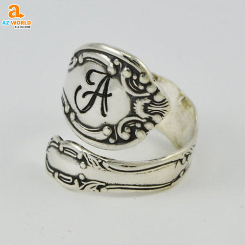 Image of spoon ring SCOTTISH SCOTLAND rings ring jewelry Az World Store Ancient Silver Spoon Ring