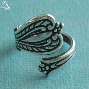 wales spoon ring SCOTTISH SCOTLAND rings ring Az World Store Antiqued Silver Spoon Ring
