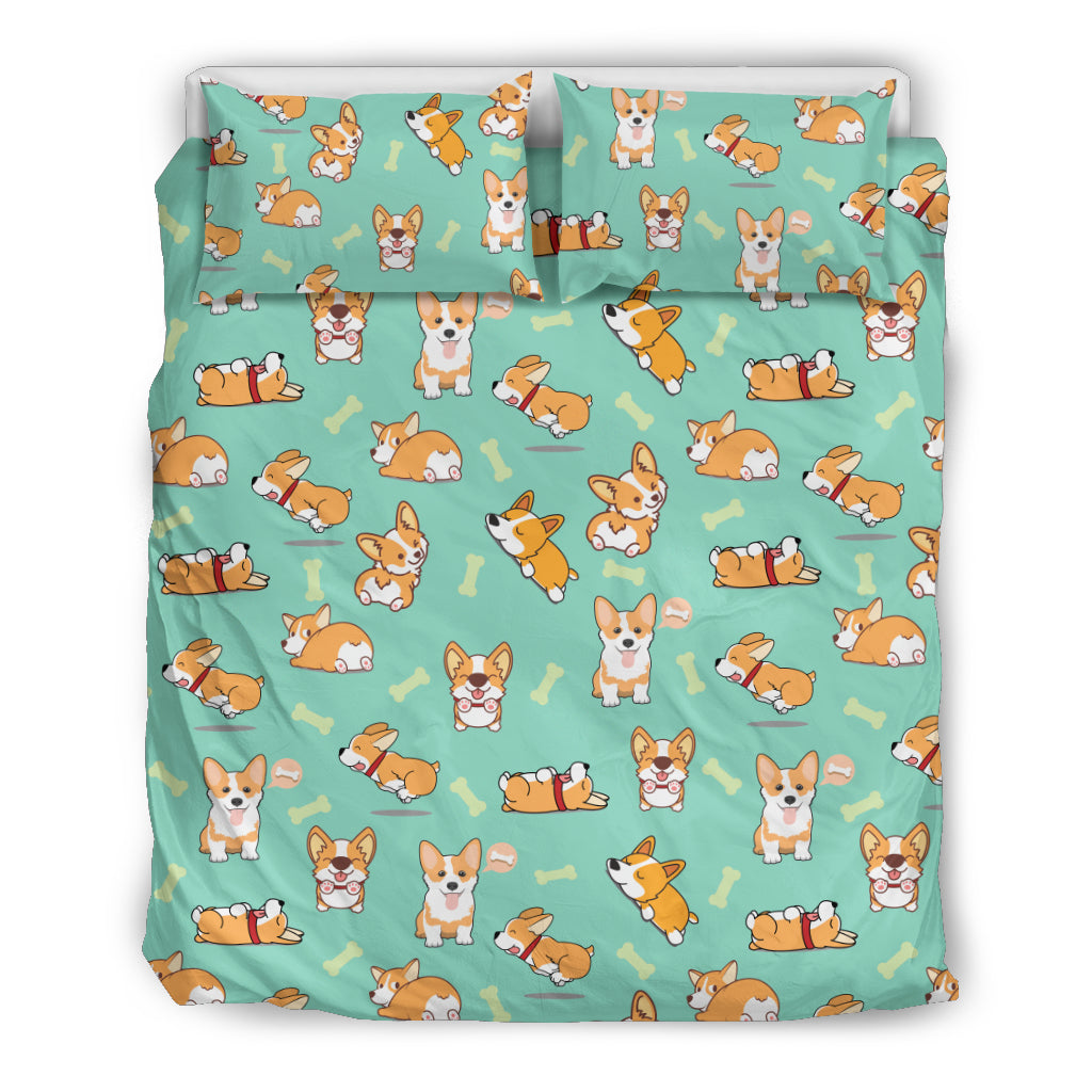 AZ World Funny Corgi Bedding Set