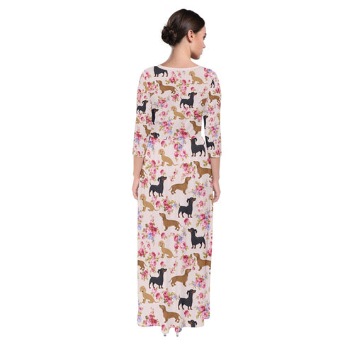 AZWorld-DachshundFlower™ Maxi Dresses - Special Limited Christmas Edition