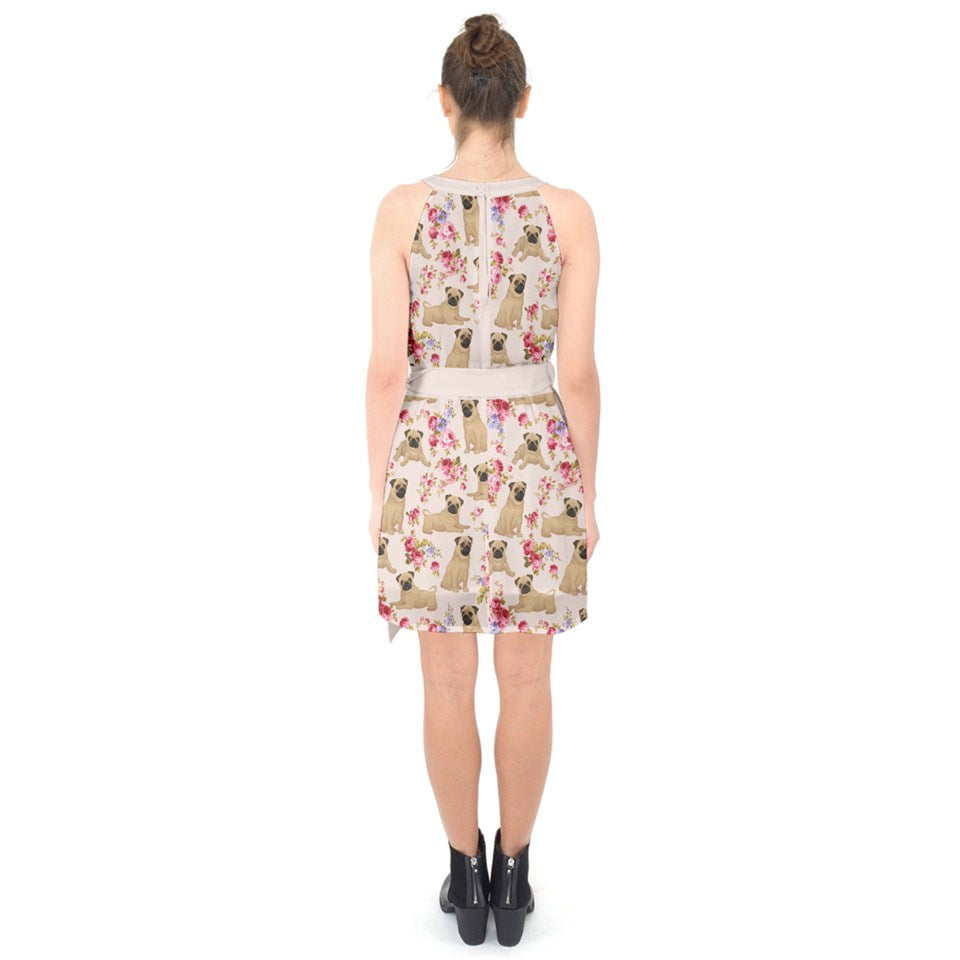 AZWorld-PugFlower™ Knee Length Dresses- Special Limited Christmas Edition