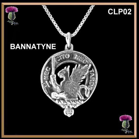 Bannatyne Clan Crest Scottish Necklace - Y7