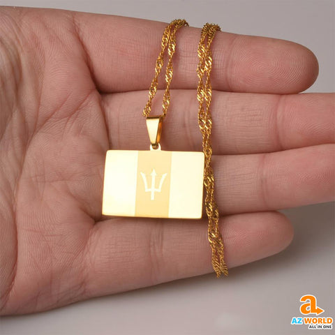 Image of Barbados Gold Pendant Necklaces - M2