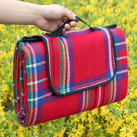 Image of Tartan Outdoor Picnic Blanket - TU