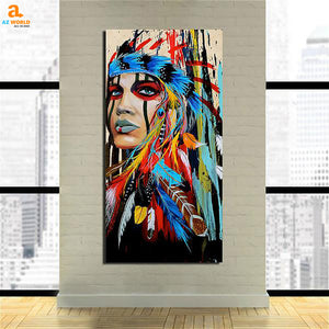Native American Indian Girl Canvas - N1