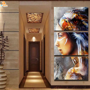 Native American Girl Canvas - N3