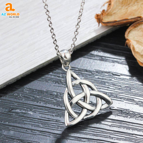 Image of 925 Sterling Silver Celtic Necklace 3 -m3
