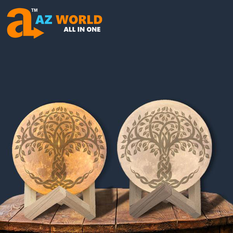 Image of Celtic Tree Of Life Moon Lamp - Special Product