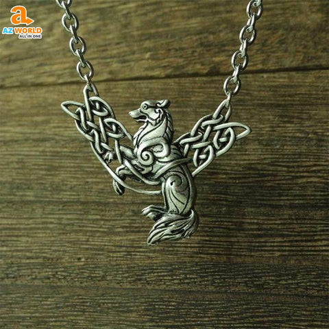 Image of Celtic Wolf Necklace - M2