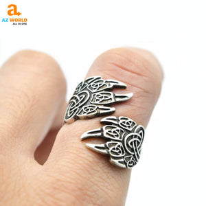 wolf, Unisex, rings, ring, jewelry, celtic knot, celtic, Az World Store