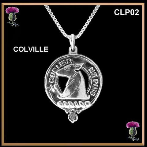Colville Clan Crest Scottish Necklace - Y7