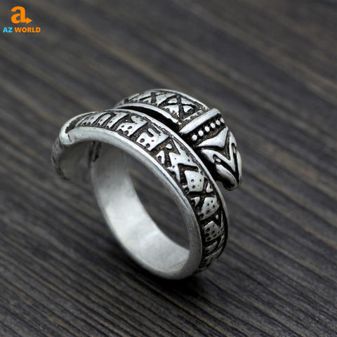 vikings, viking, sweden, rune, rings, norway, Iceland, finland, ELDER FUTHARK, Dragon Viking Runes Elder Futhark Ring, denmark, Az World Store