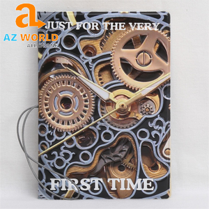 Mechanical Watches Gear PVC Leather Passport Cover - TK