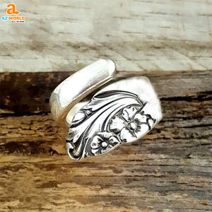 wales spoon ring SCOTTISH SCOTLAND rings ring Flower Spoon Ring Az World Store