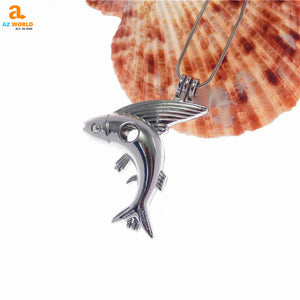 Fly Fish Pendant Necklace - M2