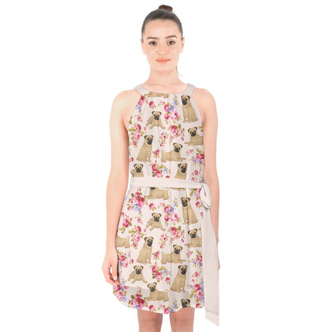 Image of AZWorld-PugFlower™ Knee Length Dresses- Special Limited Christmas Edition
