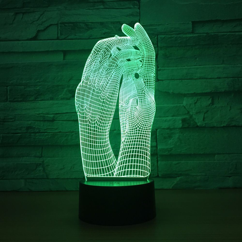 Take My Hand 3D Lamp LED Night Light Lamp Y4