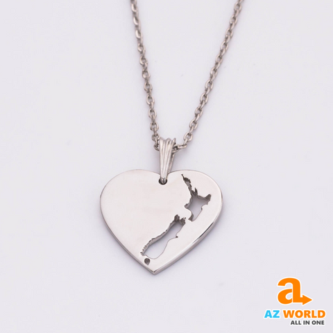 new zealand, silver fern, new zealand map, necklace, jewelries, new zealand neckalce, 925 sterling silver, silver