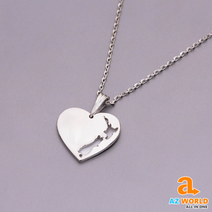 New Zealand Heart 925 Silver Necklace