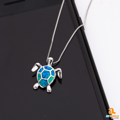 Opal Turtles Necklace