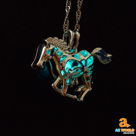 Luminous Hollow Horse Necklace