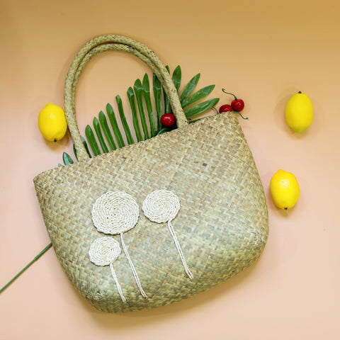 Image of AZ Exclusive Handmade Seagrass Straw Beach Bag - LTL002